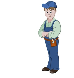 The workman or handyman vector
