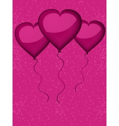 valentine heart shaped balloons vector image vector image