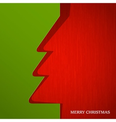 Christmas tree cut out on paper vector image