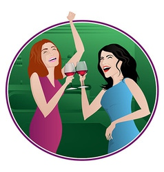 Girls night vector