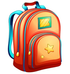 An orange schoolbag vector
