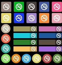 No smoking icon sign set from twenty seven vector