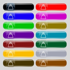 Weight icon sign set from fourteen multi-colored vector