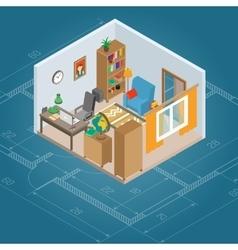Isometric Cabinet Interior vector image