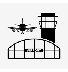 Airport terminal design vector