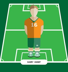 Computer game ivory coast soccer club player vector