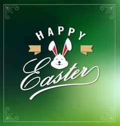 Happy easte lettering greeting card vector