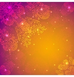 Orange abstract flower background your vector