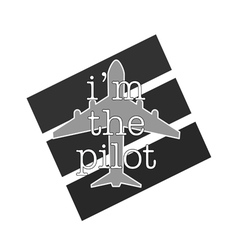 Airplane with pilot icon grey color vector