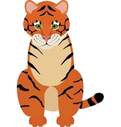 Fun cartoon of cute tiger vector