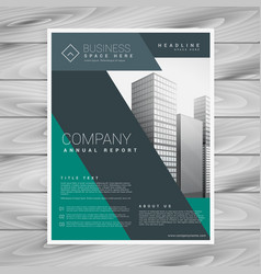 abstract corporate business brochure template vector image vector image