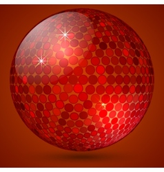 Abstract shining crystal ball vector