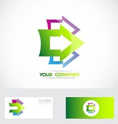 Arrow logo vector image