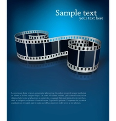 Background with film vector