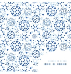 blue molecules texture frame corner pattern vector image vector image