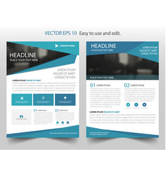 Blue triangle abstract brochure annual report vector