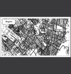 Bogota colombia city map in black and white color vector