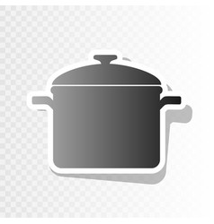 Cooking pan sign new year blackish icon vector