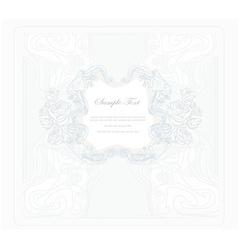 Elegant vintage floral frame vector
