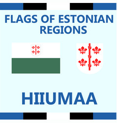 Flag of estonian region hiiumaa vector