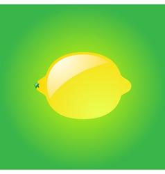 Glossy lemon vector