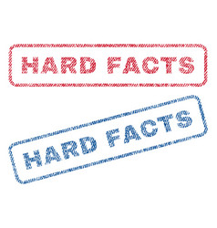 Hard facts textile stamps vector