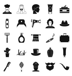 hats icons set simple style vector image