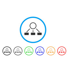 hierarchy rounded icon vector image