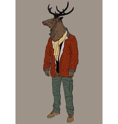 Hipster deer vector