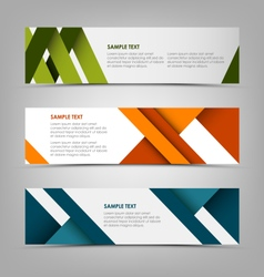 Horizontal banners with abstract colored stripes vector image