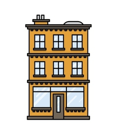 house with a bar or shop vector image vector image