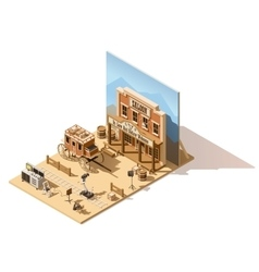 Isometric low poly movie set vector