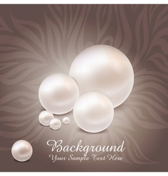 Luxurious pearl background vector