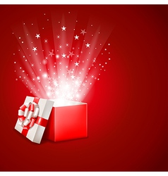 Magic gift vector image vector image