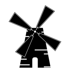 Mill icon simple style vector