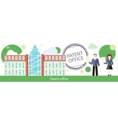 Patent office concept in flat design vector