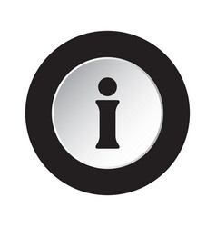 Round black and white button - information symbol vector