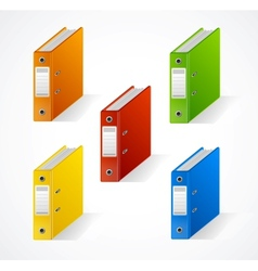 Set of colorful ring binders vector image