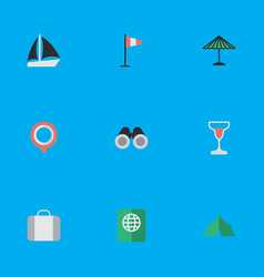 set of simple relax icons vector image