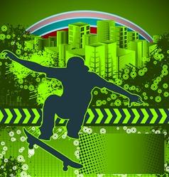 skate grunge background vector image vector image