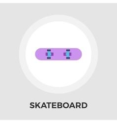 Skateboard flat icon vector image