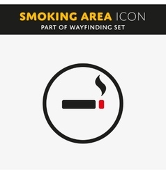 smoke icon vector image