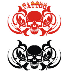 tattoo style vector image