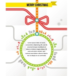 Travel in christmas - background vector