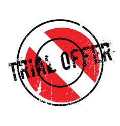 Trial offer rubber stamp vector