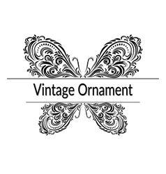 Vintage Abstract Calligraphic Ornament vector image vector image