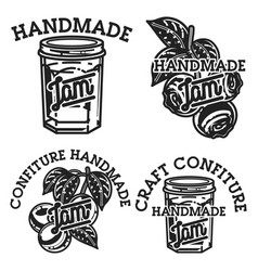 Vintage confiture emblems vector