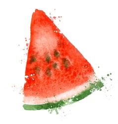 Watermelon logo design template vitamins vector