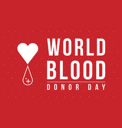 World blood donor day collection background vector