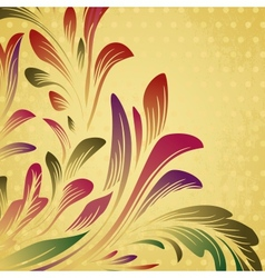 Abstract background with floral branch vector